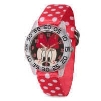 Image of Minnie Mouse Polka Dot Time Teacher Watch - Kids # 1