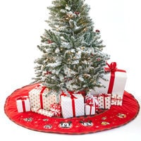 Mickey Mouse and Friends Holiday Tree Skirt - Personalizable