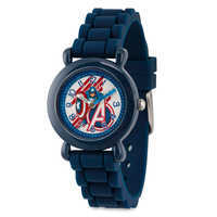 Image of Captain America Time Teacher Watch - Kids # 1
