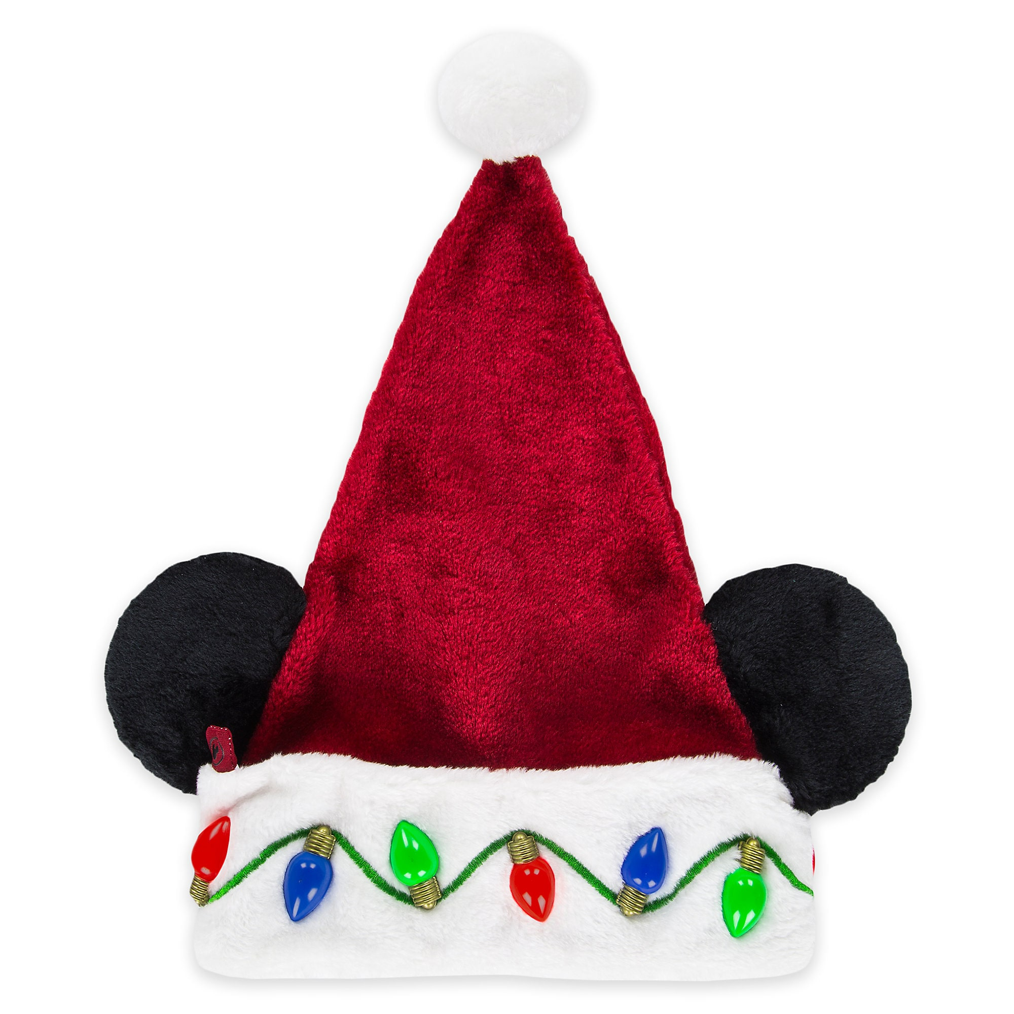 Mickey Mouse Light-Up Santa Hat - Adults