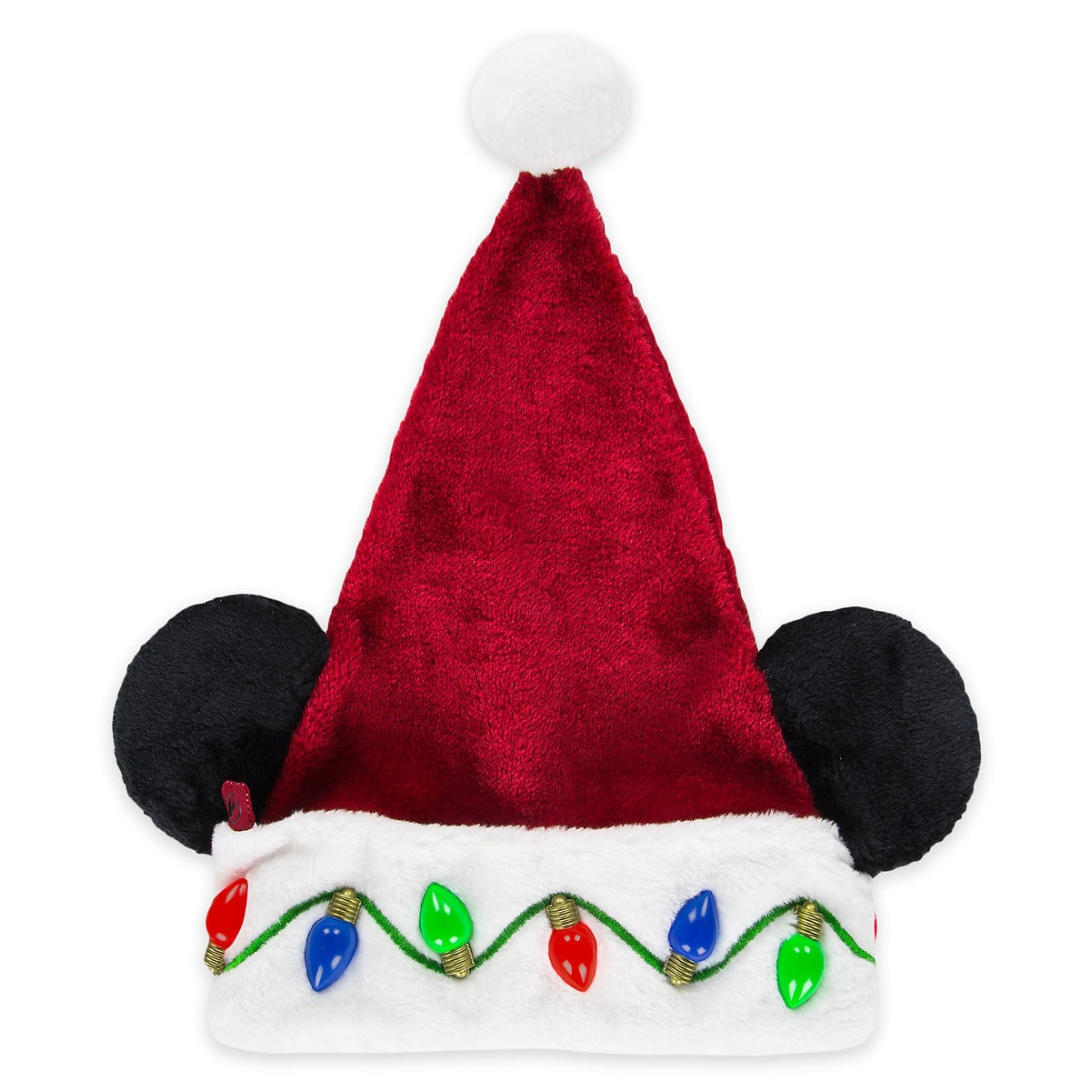90a96e26a9ae5 Product Image of Mickey Mouse Light-Up Santa Hat - Adults   1