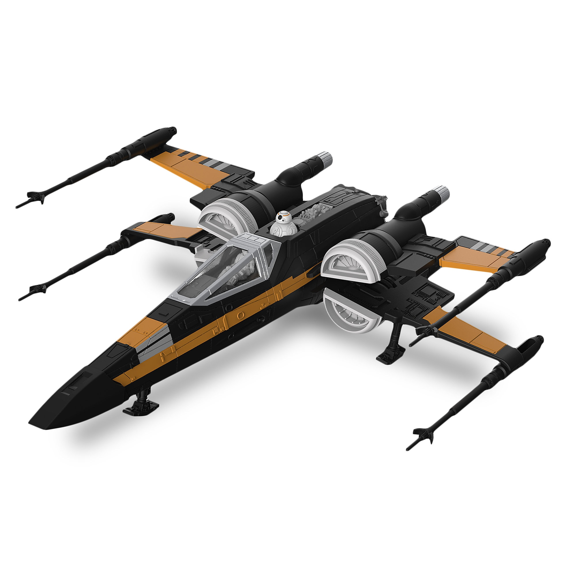 Poe's Boosted X-Wing Fighter Model Kit - Star Wars: The Last Jedi