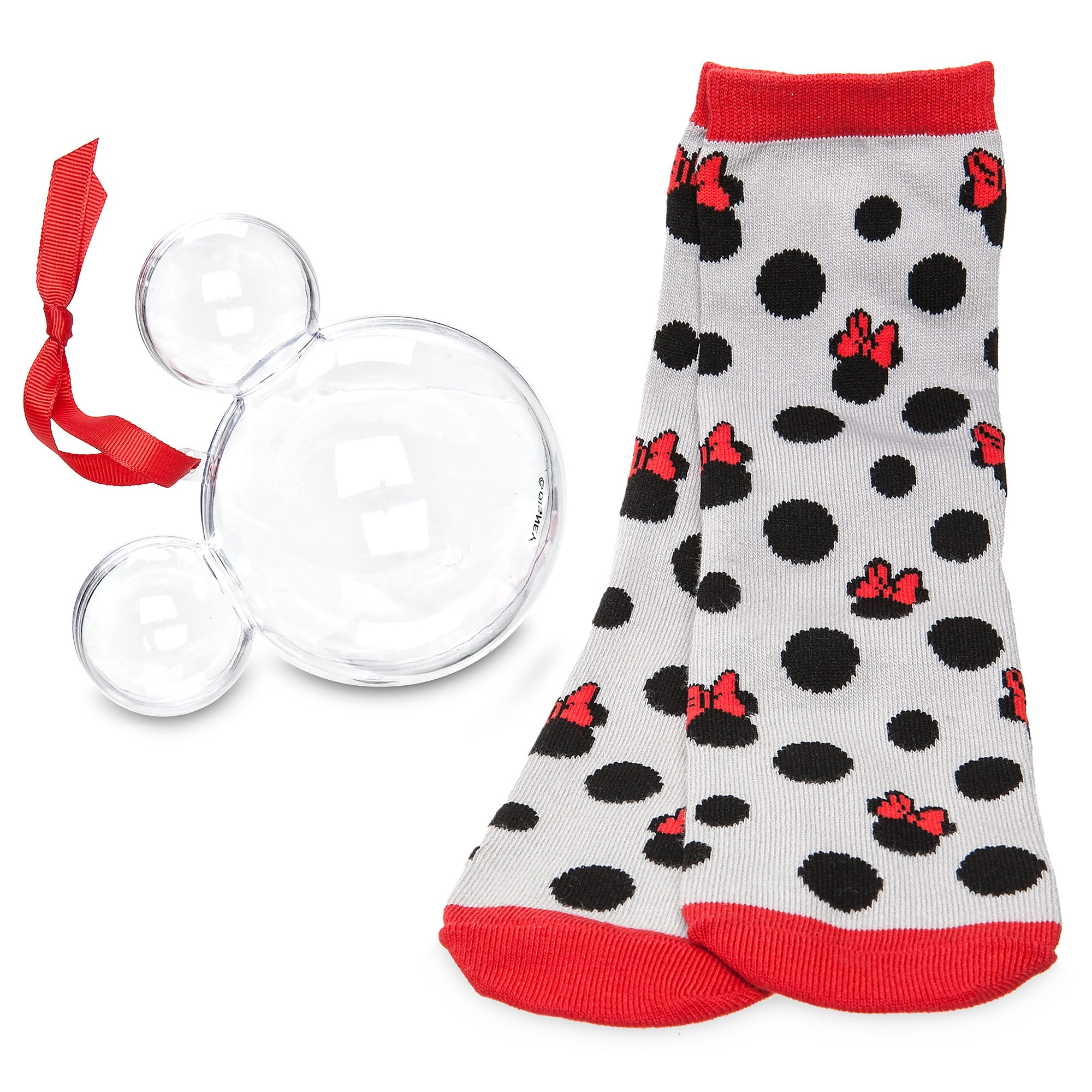 Minnie Mouse Socks in Ornament - Women