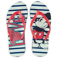Mickey Mouse Love Flip Flops - Adults