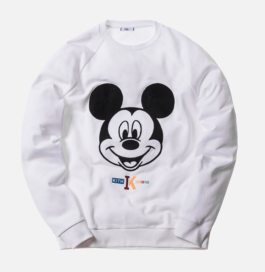 Sweatshirt from the KITH X Iceberg Mickey Mouse Collection