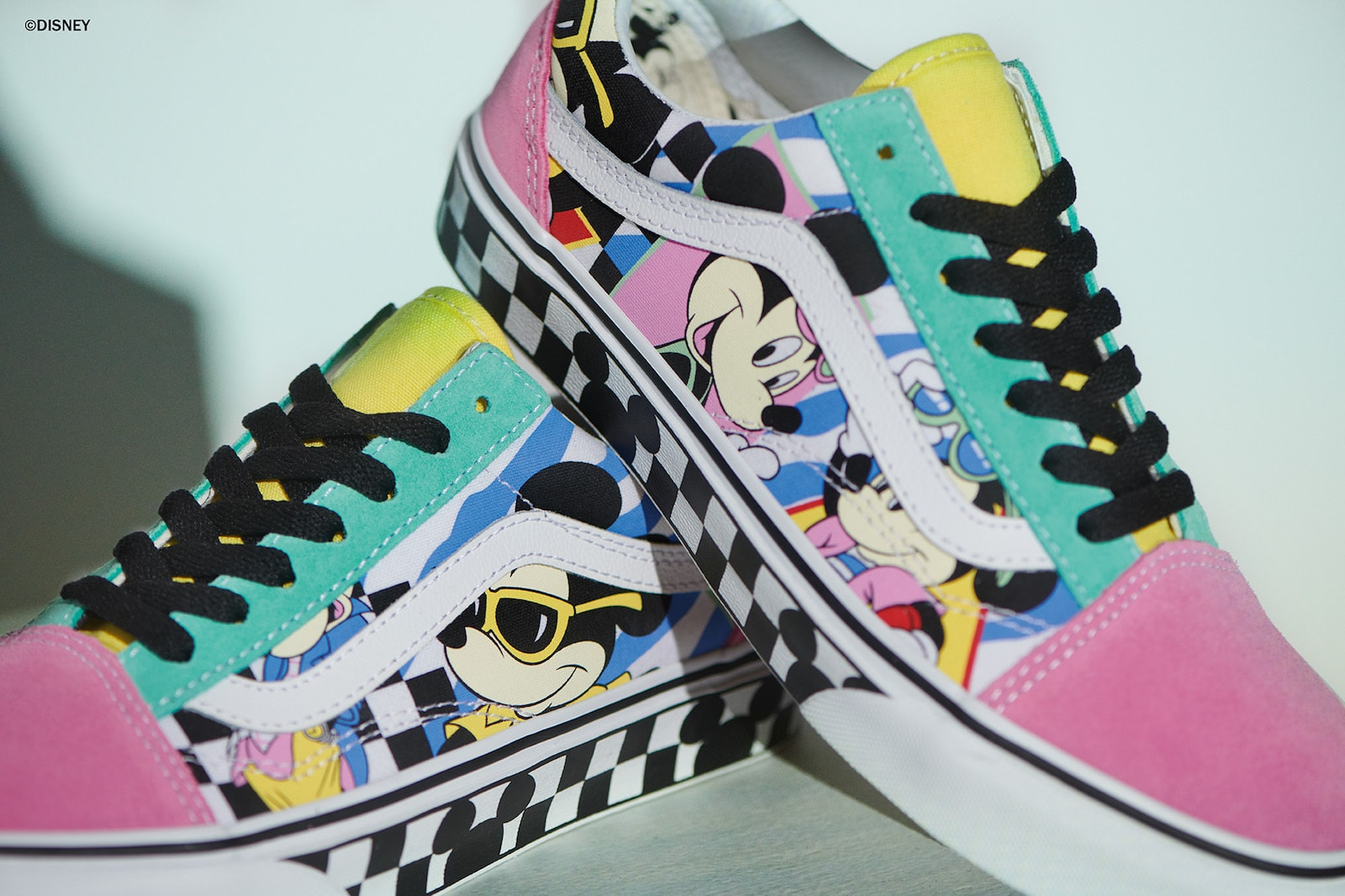 Colorful, stylish Mickey Mouse sneakers from the Vans x Disney Collection