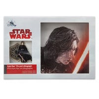 Kylo Ren Pin & Lithograph Set - Star Wars: The Last Jedi - Limited Edition