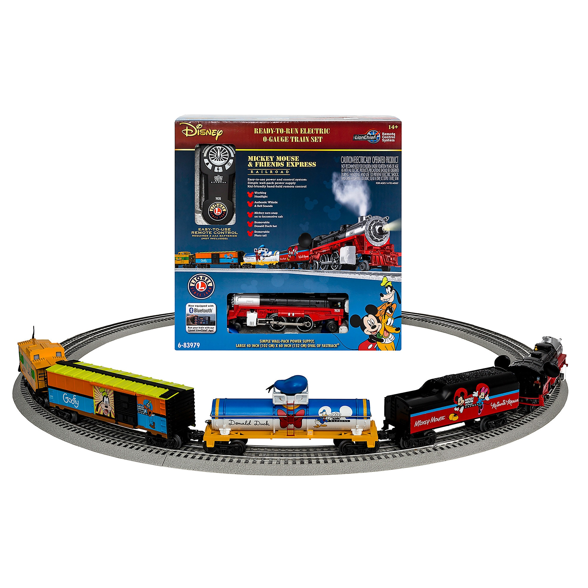 Mickey Mouse and Friends Express Ready-to-Run O-Gauge Train Set by ...