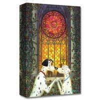 Image of Pongo and Perdita ''101 Roses'' Giclée on Canvas by Tim Rogerson # 1