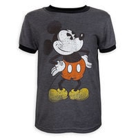 Mickey Mouse Timeless Ringer T-Shirt for Toddlers - Dark Gray