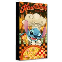Image of Stitch ''Hawaiian Pizza'' Giclée on Canvas by Tim Rogerson # 1