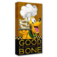 Image of Pluto ''Good to the Bone'' Giclée on Canvas by Tim Rogerson # 1