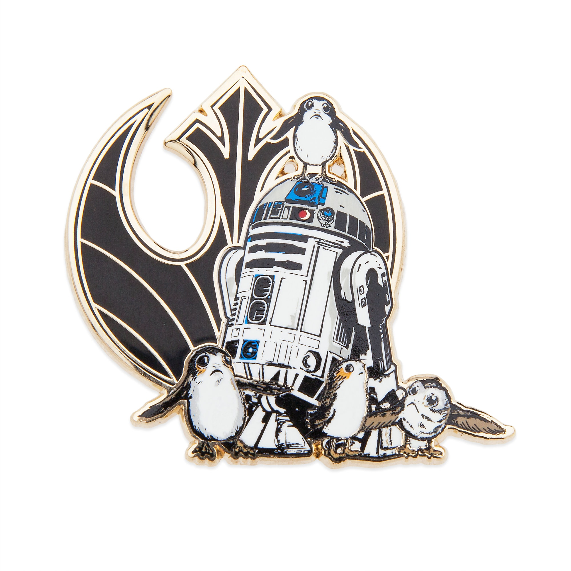 R2-D2 and Porgs Pin and Lithograph Set - Star Wars: The Last Jedi - Limited Edition