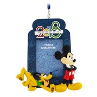 Image of Mickey Mouse and Pluto Frame Ornament 2018 - Disneyland # 1