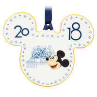 Image of Mickey Mouse Ceramic Ornament 2018 - Disneyland # 1
