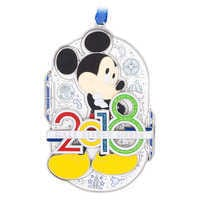 Image of Mickey Mouse Metal Ornament 2018 - Walt Disney World # 1