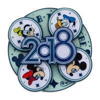 Image of Mickey Mouse and Friends Spinner Pin - Disney Parks 2018 # 2