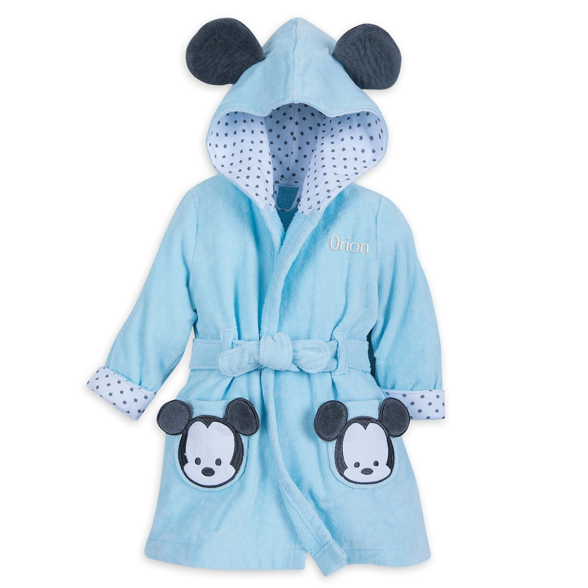 Mickey Mouse Hooded Bath Robe for Baby - Personalizable | shopDisney