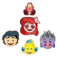 The Little Mermaid Emoji Sticker Patch Set