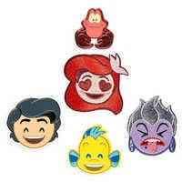 Image of The Little Mermaid Emoji Sticker Patch Set # 1