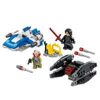 Image of A-Wing vs. TIE Silencer Microfighters Playset by LEGO - Star Wars: The Last Jedi # 1
