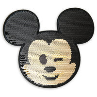 Image of Mickey Mouse Emoji Sequin Sticker Patch # 1