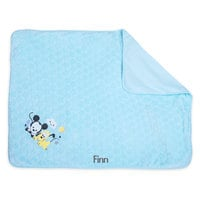 Image of Mickey Mouse and Pluto Plush Blanket for Baby - Personalizable # 2