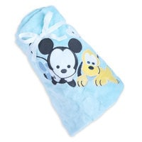 Image of Mickey Mouse and Pluto Plush Blanket for Baby - Personalizable # 4