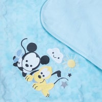 Image of Mickey Mouse and Pluto Plush Blanket for Baby - Personalizable # 5