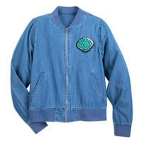 Image of Ariel Chambray Bomber Jacket for Women - Oh My Disney # 1