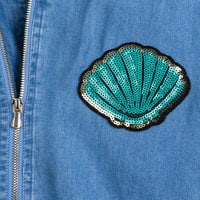 Image of Ariel Chambray Bomber Jacket for Women - Oh My Disney # 5