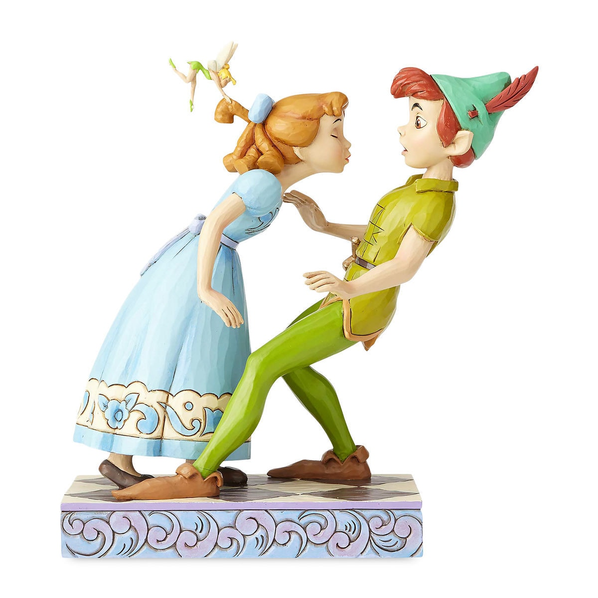 peter pan wendy tinker bell an unexpected kiss figure by jim