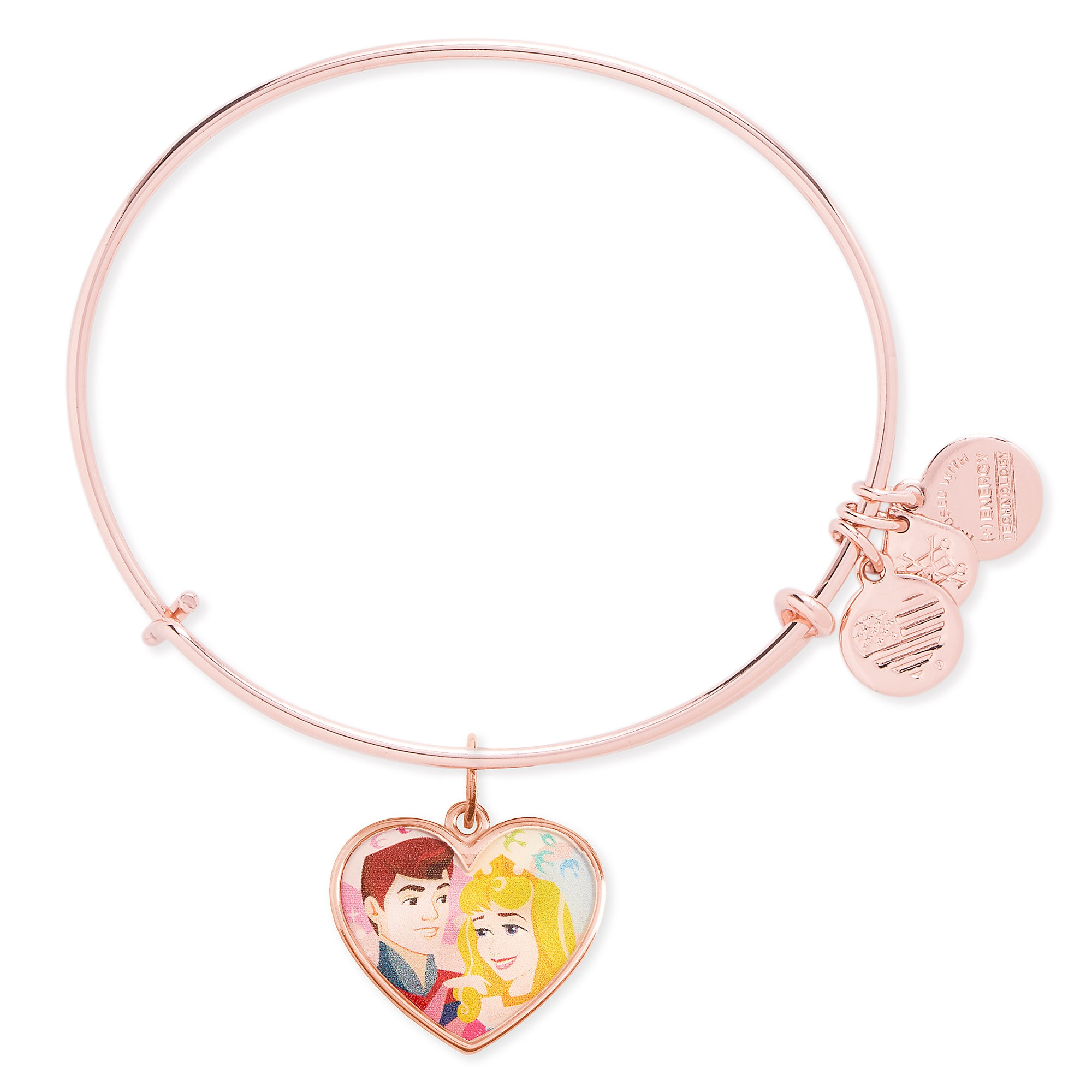 Aurora and Prince Phillip Valentine's Day Bangle by Alex and Ani