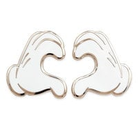 Image of Mickey Mouse Heart Gloves Pin Set # 1