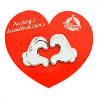 Image of Mickey Mouse Heart Gloves Pin Set # 2