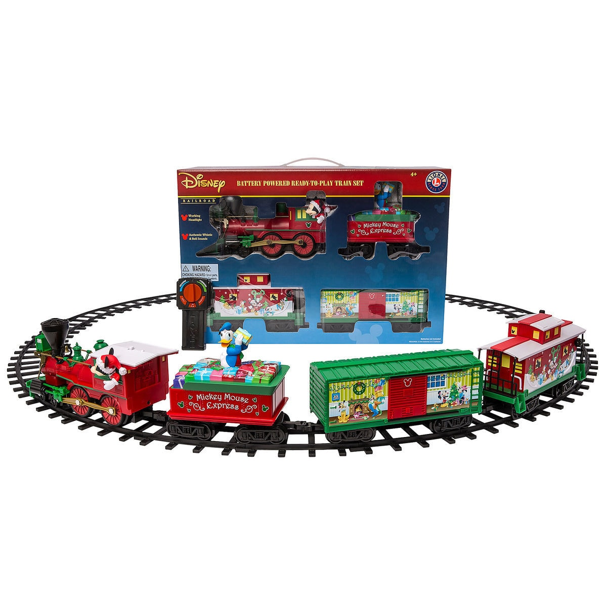 Mickey Mouse Express Ready-to-Play Large Gauge Train Set by Lionel ...