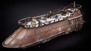 Check Out New Photos of the Fully-Painted Jabba's Sail Barge Prototype from Hasbro