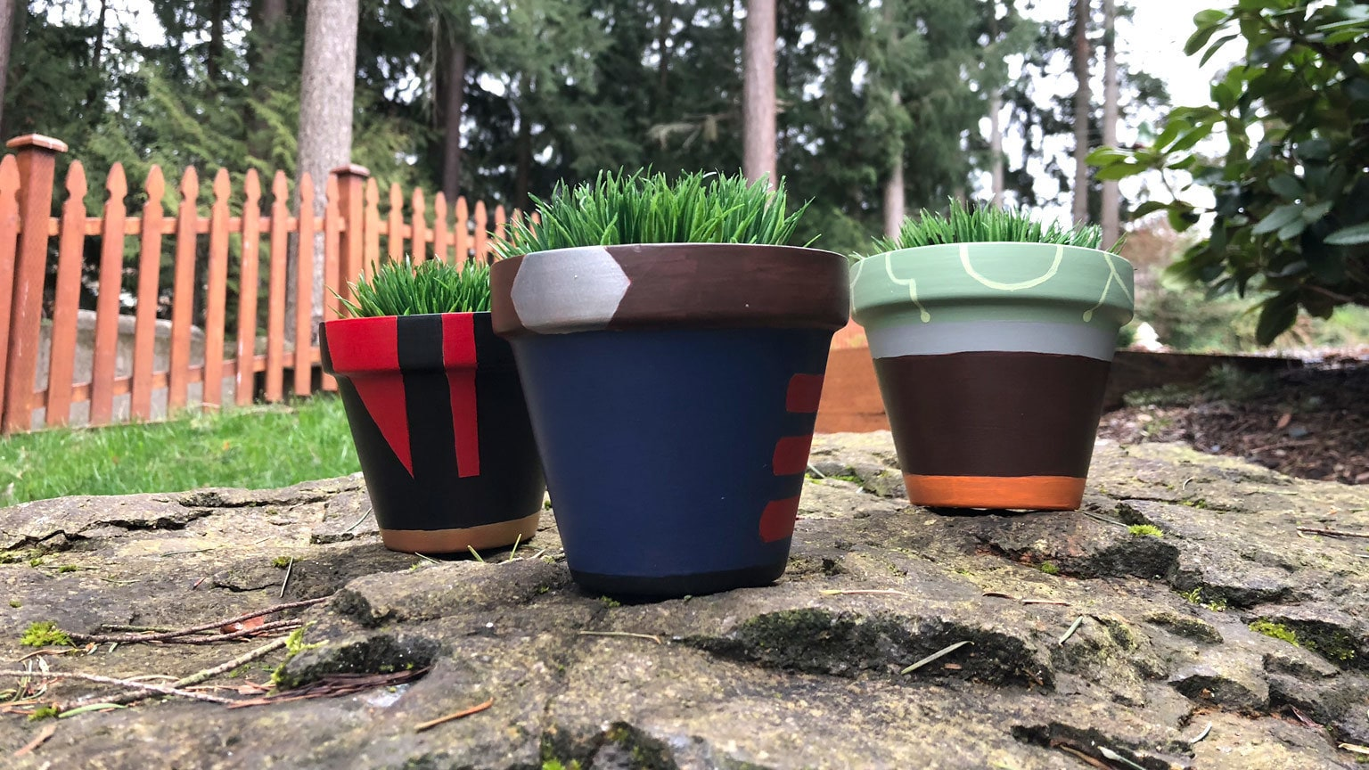 Paint the Best Star Pilot Planters in the Galaxy