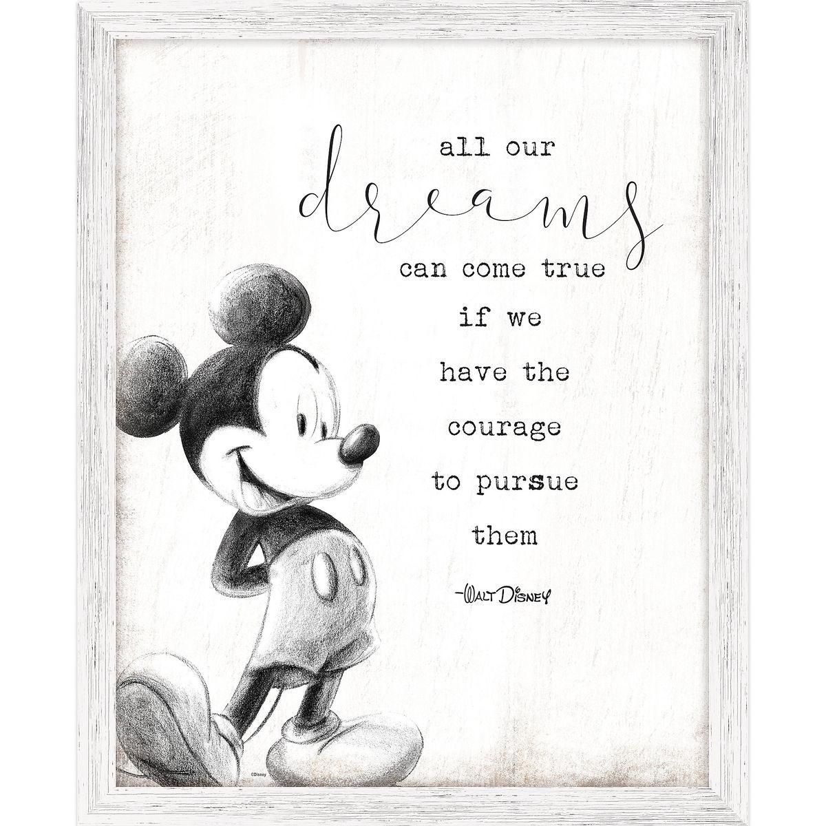 Mickey Mouse Framed \'\'Dreams\'\' Wall Decor | shopDisney