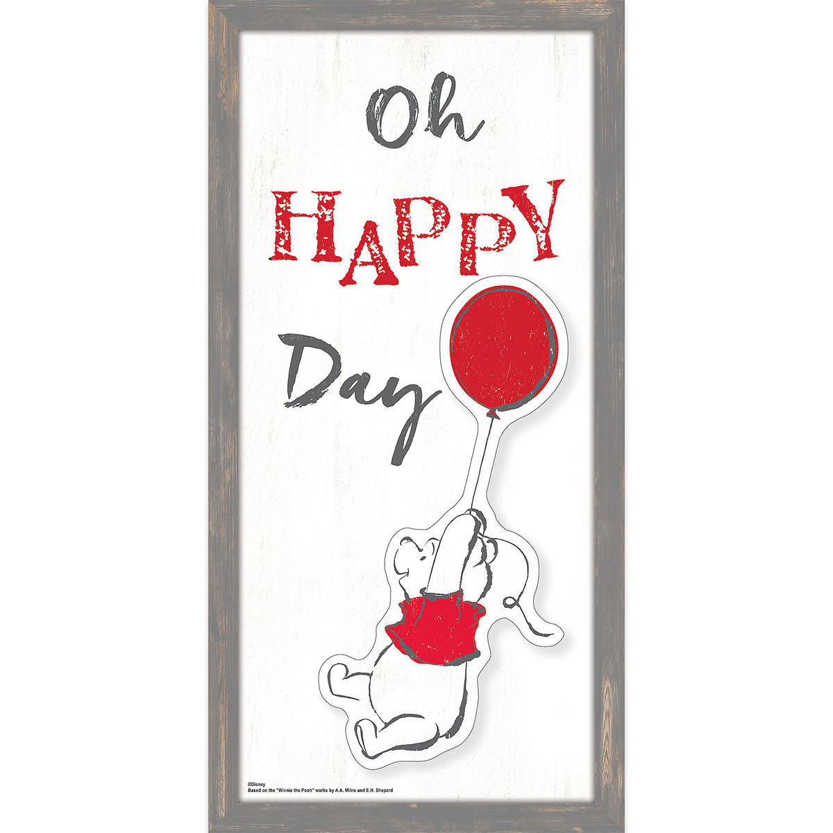 Winnie the Pooh \'\'Oh Happy Day\'\' Framed Wall Decor | shopDisney