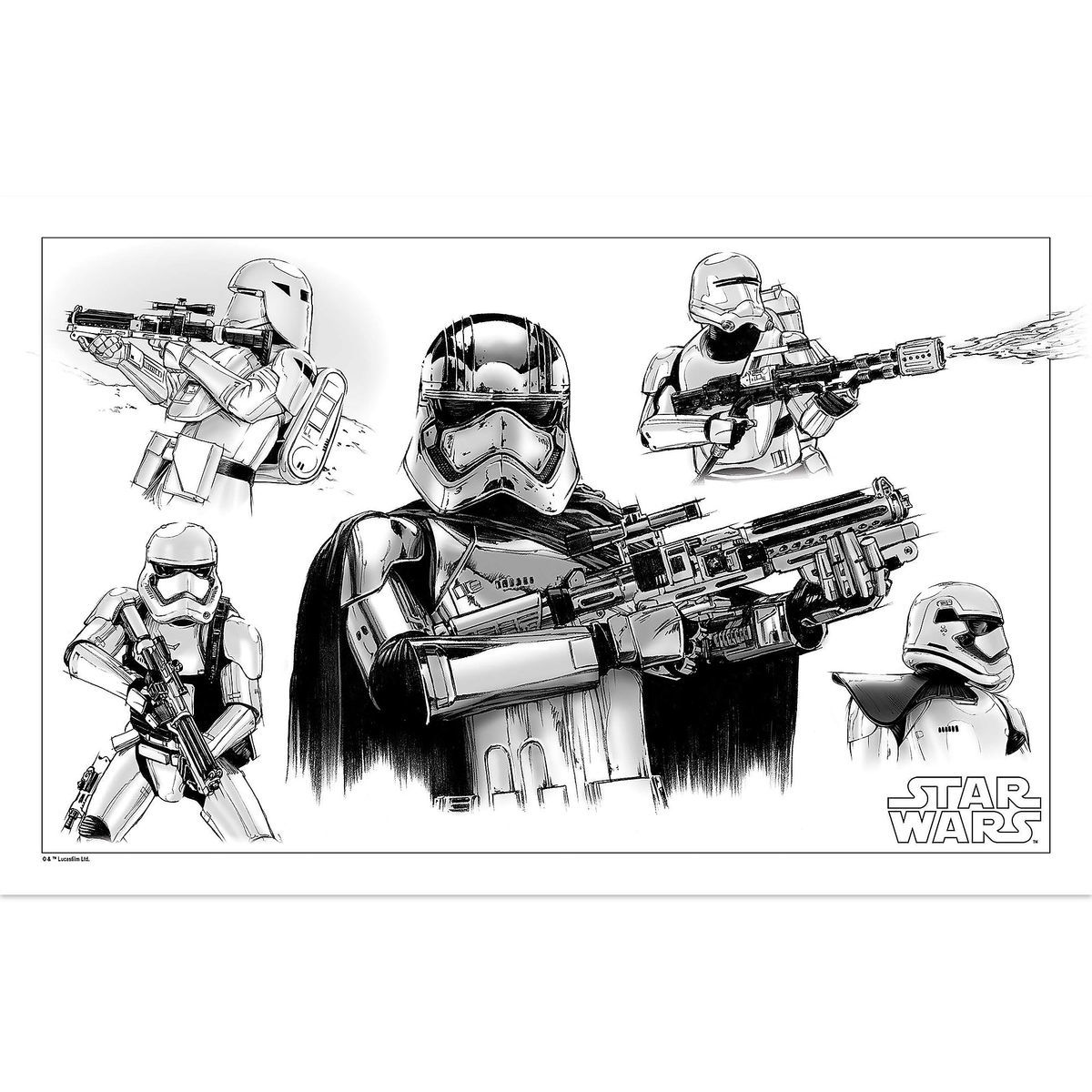 Star Wars Stormtrooper Sketch Tin Wall Decor | shopDisney