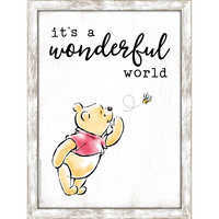 Image of Winnie the Pooh ''It's a Wonderful World'' Framed Wall Decor # 1