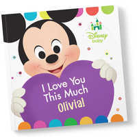 Image of Disney Baby: I Love You This Much Book - Paperback - Personalizable # 1