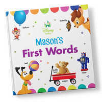 Image of Disney Baby: Your First Words Book - Hardback - Personalizable # 1