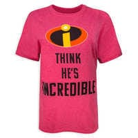 Image of Incredibles 2 Couples T-Shirt for Adults - ''He's Incredible'' # 1