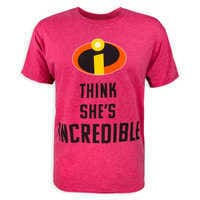 Image of Incredibles 2 Couples T-Shirt for Adults - ''She's Incredible'' # 1