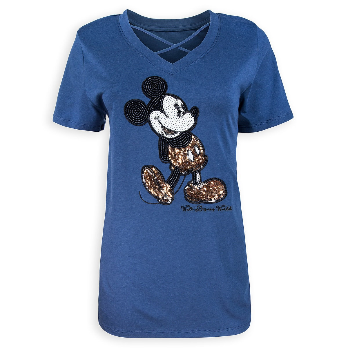 7aa08c4c6 Product Image of Mickey Mouse Sequined Fashion T-Shirt for Women - Walt  Disney World