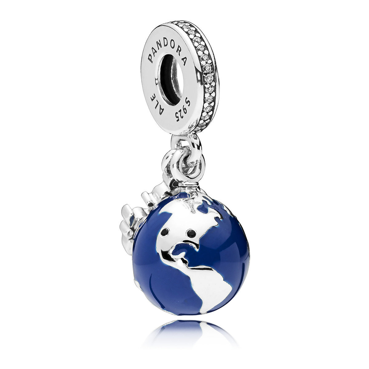 09d3addfe Product Image of Mickey Mouse Globe Charm by Pandora Jewelry # 1