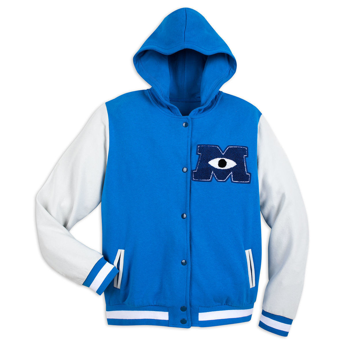 monsters university hooded varsity jacket for adults shopdisney