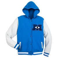Image of Monsters University Hooded Varsity Jacket for Adults # 1